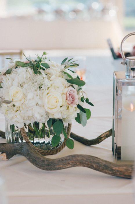 flou(-e)r Specialty Floral Events Ocean Cliff Tented Wedding Beach Wedding Floral Design