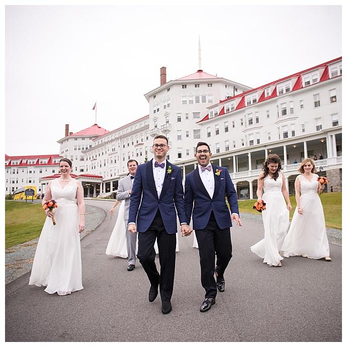 Flou(-e)r Florals - Benedicte Verley Photography Omni Mount Washington Hotel Reception - Bridal Party