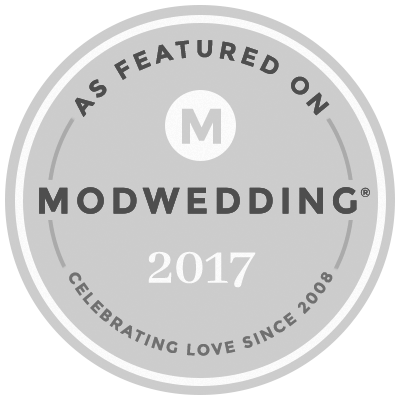 As Featured on Modwedding 2017
