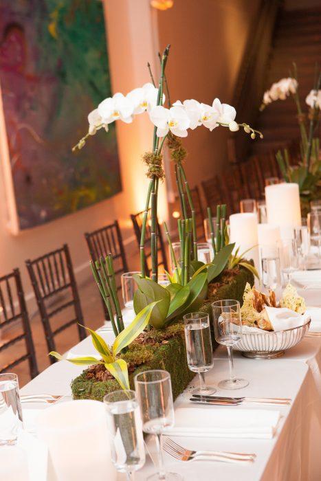 flou(-e)r Specialty Floral Events Contemporary Modern Wedding Centerpiece Style