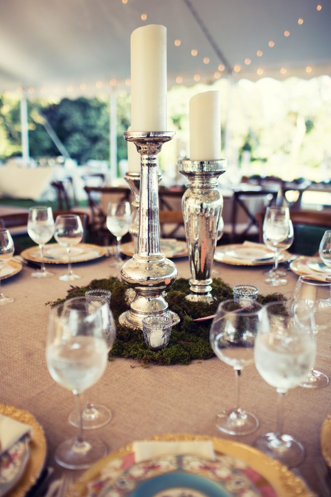 flou(-e)r Specialty Floral Events Rustic Chic Wedding Centerpiece Style