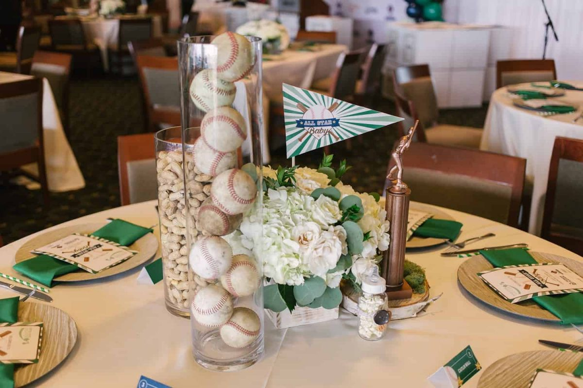 Baseball Centerpieces Baby Shower