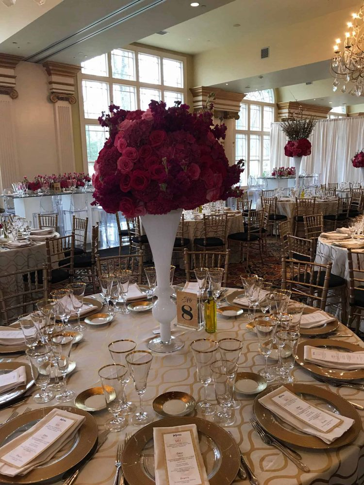 Dramatic Flower Centerpieces