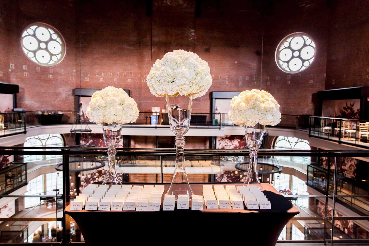 Escort Card Table Flowers