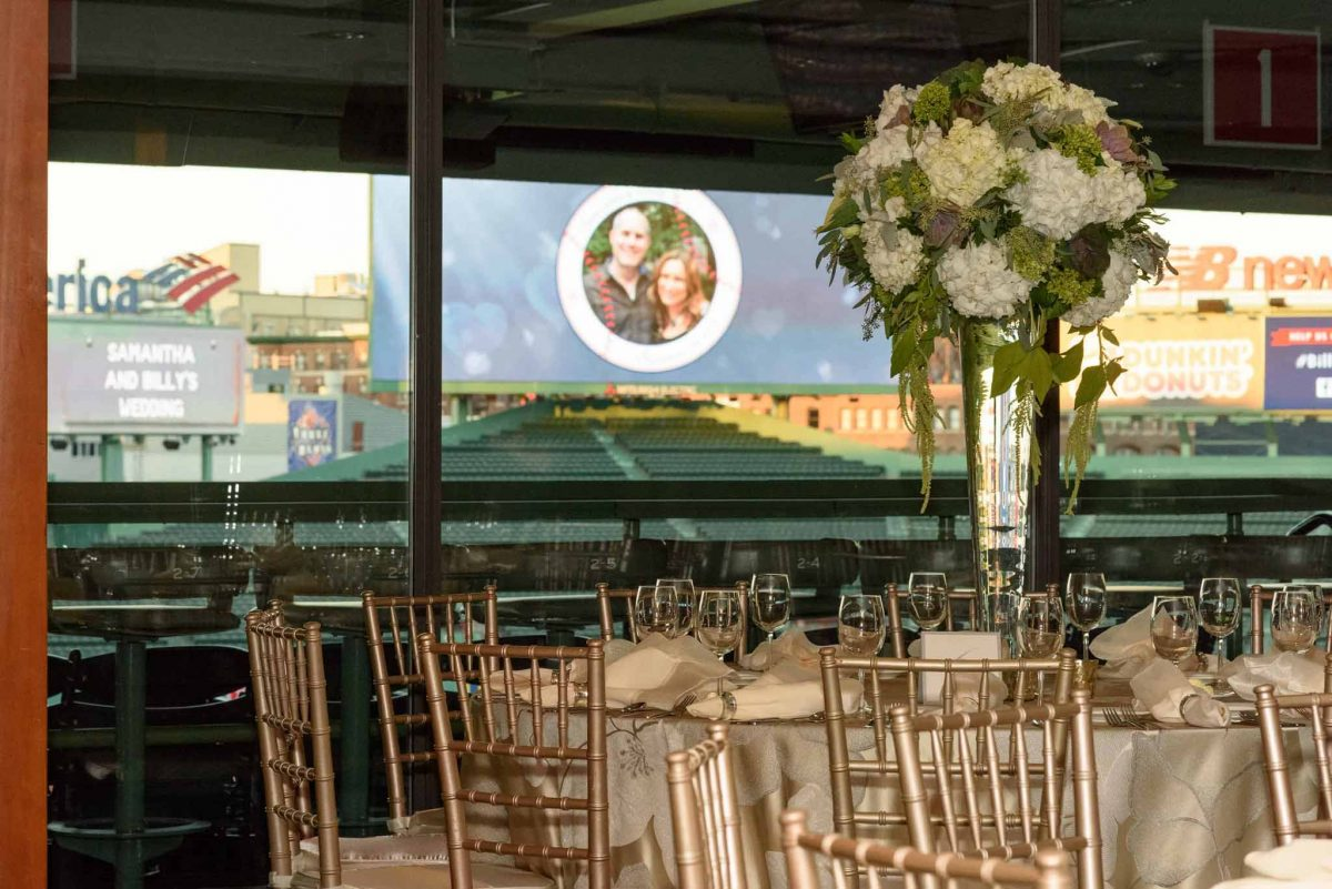 Fenway Wedding Centerpiece