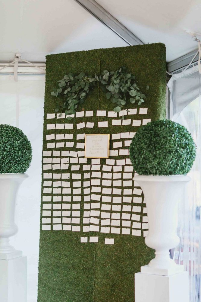 Greenery Escort Card Display
