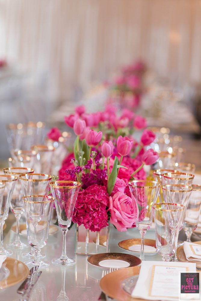 Pink Flowers Centerpiece