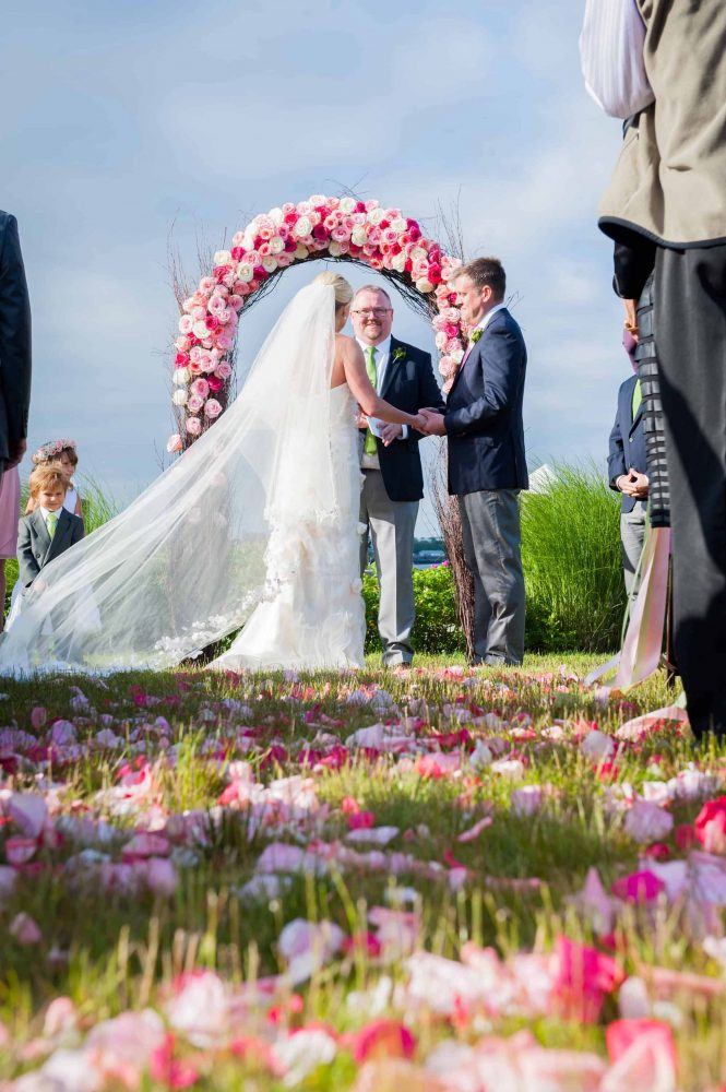 Pink Wedding Ceremony