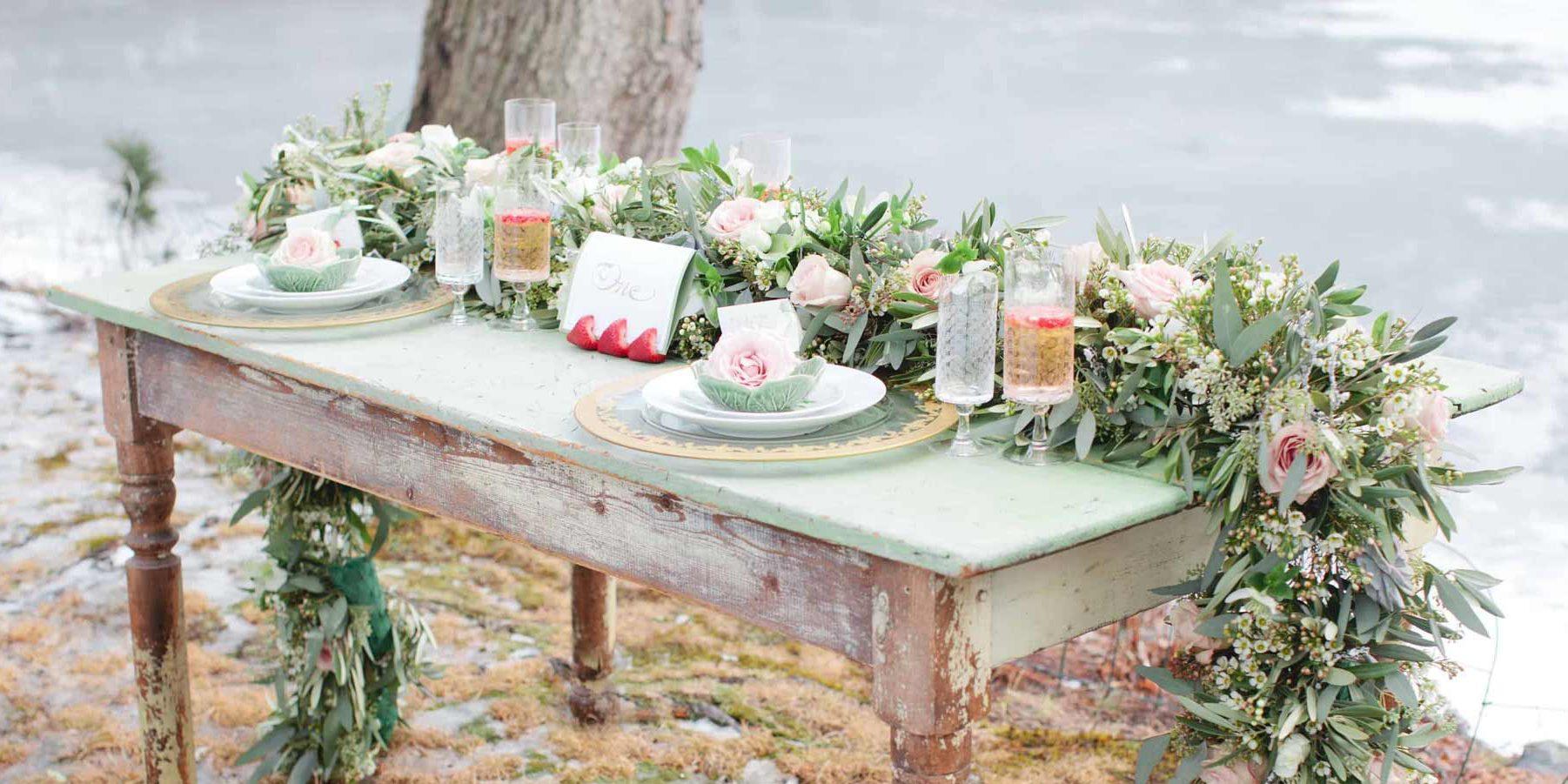 Table Flowers Wedding Garland