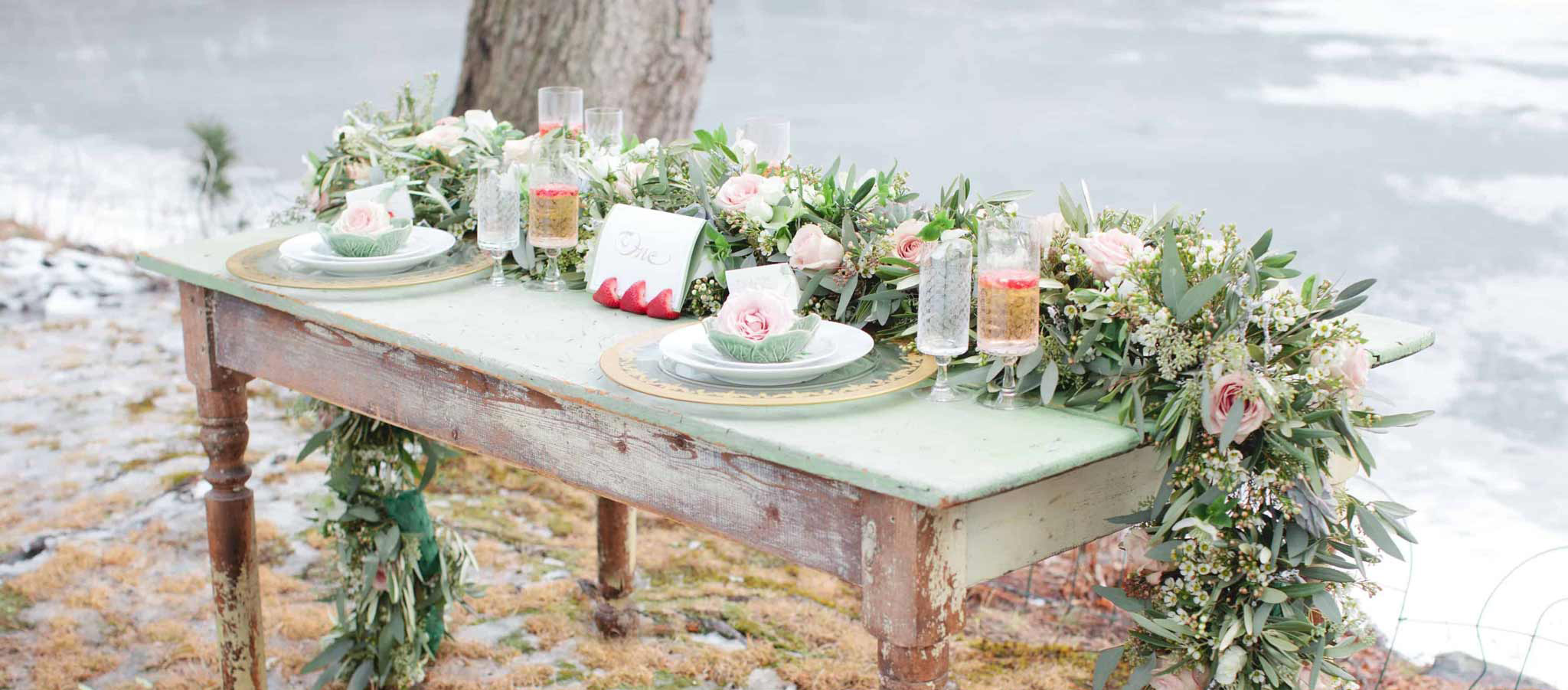 Table Flowers Wedding Garland