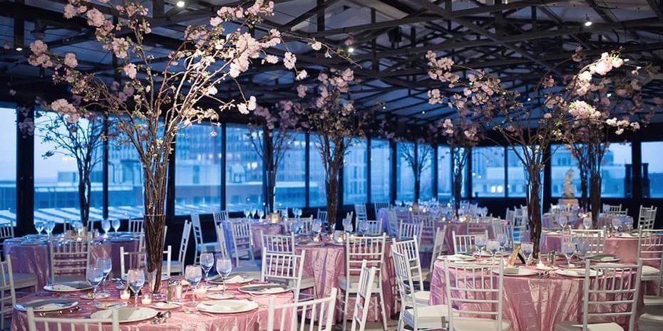 Taj Boston Wedding Flowers Tall Centerpieces