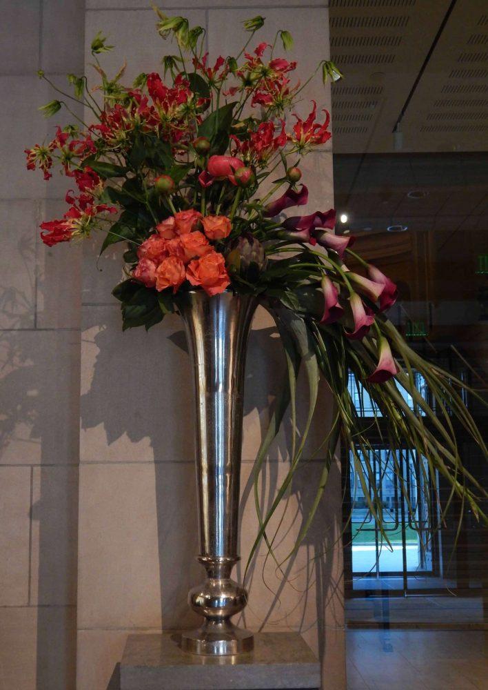 Tall Flower Arrangement for Nonprofit Events