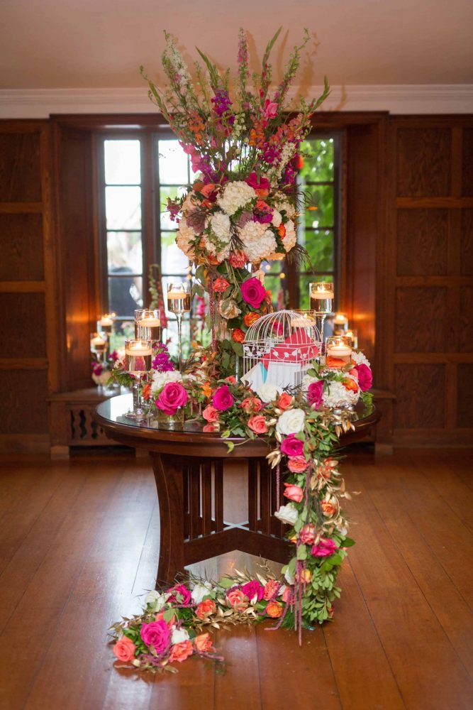 Wedding Card Table Flowers