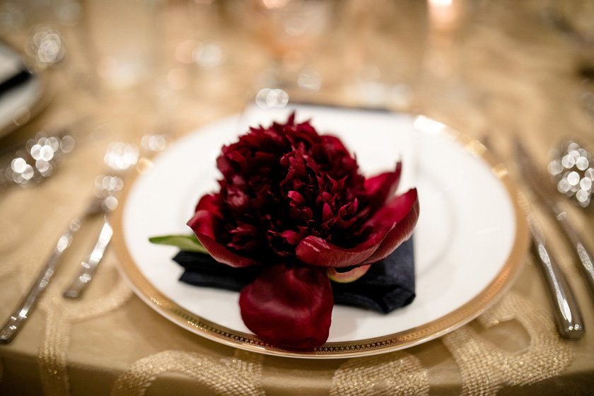 Peony Wedding Place Setting