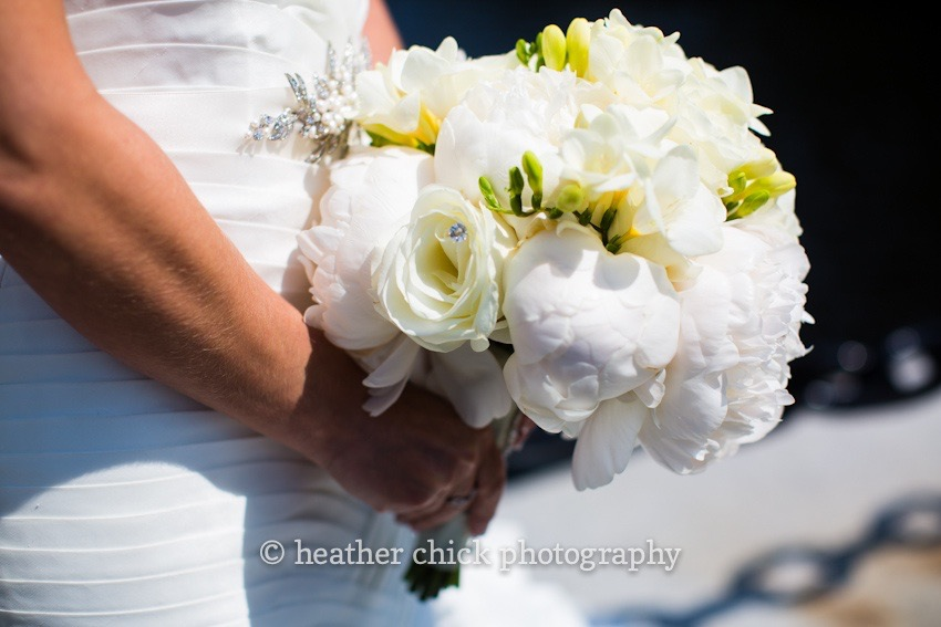 All White Peony Wedding Bouquet