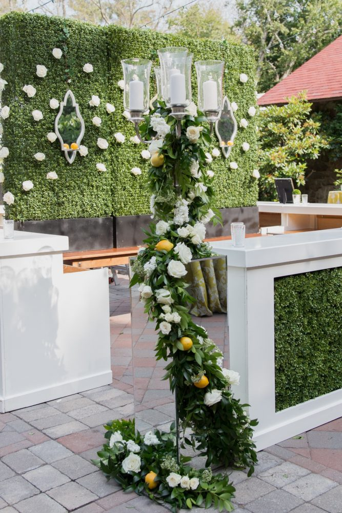flou(-e)r specialty floral events summer flower inspiration green wall Emily Leis Photography