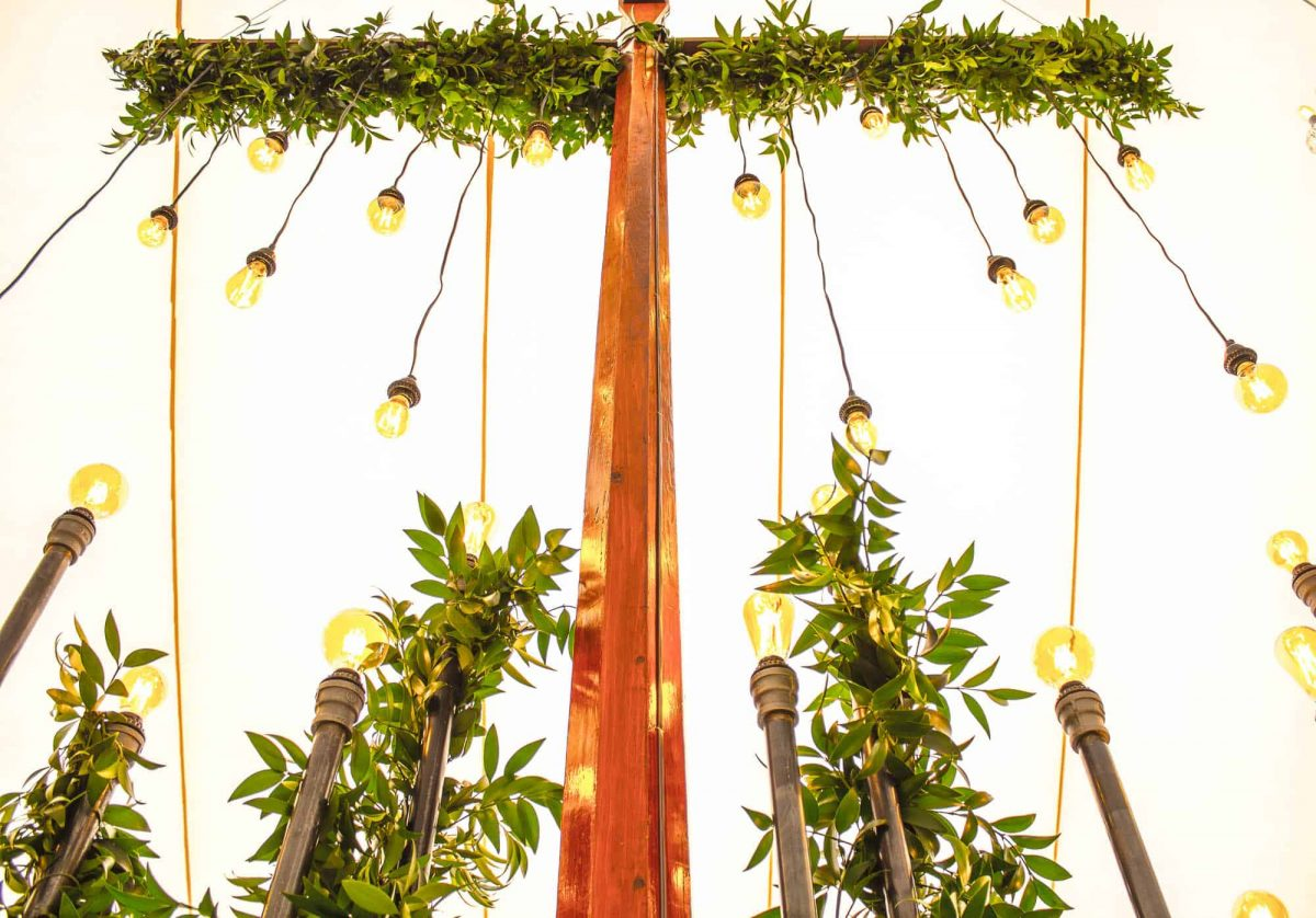 Suspended Flowers Event Design